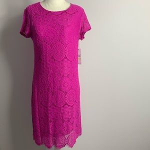 Laundry by shelli segal hot pink lace dress